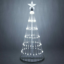 LED Outdoor Christmas Light Show Motion Tree White Color 3D Display Dec... - $226.71+