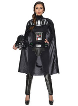 Star Wars Women's Darth Vader Woman's Deluxe Costume Jumpsuit, Multi, Large - $109.81