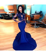 Sexy sheer lace mermaid prom /evening dresses at Bling Brides Bouquet On... - $229.99