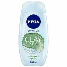 NIVEA Women Body Wash, Clay Fresh Ginger & Basil Shower Gel, 250ml - $17.11