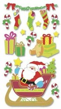 Jolee's Boutique Dimensional Santa Sleigh Stickers - Christmas Cardmaking