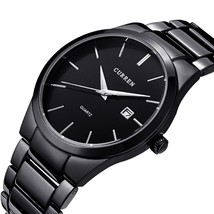 Classic Luxury Sports Wrist Watch Date Quartz Black Analog Men S Stainless Steel - $23.74