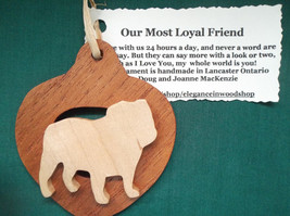 Bulldog Ornament personalized with your dog's name, Customized dog ornament - $12.00