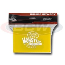 25x MONSTER PROTECTORS DOUBLE DECK BOX - Matte Yellow - Magnetic Lock - $116.38