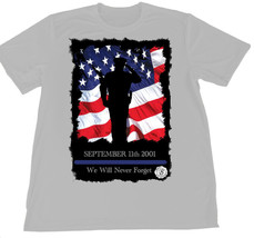 September 11th Law Enforcement We Will Never Forget Wicking T-Shirt Car ... - $14.80+