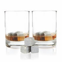 Ice Cube, Glacier Rocks Set Of 9 Soapstone Whiskey Chilling Rocks - £19.84 GBP