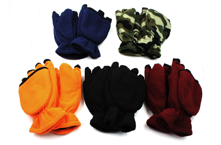 Case of [36] Polar Fleece Fingerless Gloves/Mittens
