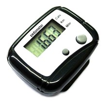 Sports Pedometers Black LCD Walking Distance Belt Clip Step Calorie Counter - $8.90