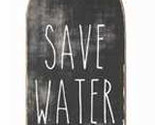Quote Sign SAVE WATER DRINK WINE Wall Decor Word Sign Framed Wine Decor NEW