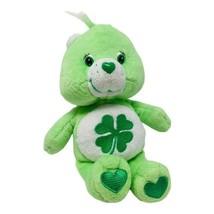 """Care Bear Plush Good Luck Bear 8"""" Plush Shamrock Irish 2002 Green Stuffe... - $12.99"""