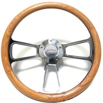 1974 - 1994 Chevy C/K Series Pick-Up Truck Polished Billet Steering Wheel, Oak - $179.99