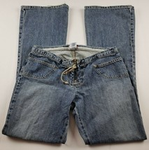 Guess Jeans Womens Sz 30 Bell Bottom Flare Light Wash Denim Butterflies ** - $25.10