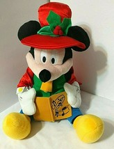 Wiggle MICKEY MOUSE Christmas Plush Musical Caroler Toy Disney Deck The ... - $17.77