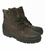 Vtg Vintage REEBOK Womens Sz 8 EU 38.5 Brown Leather Lace Up Fashion Ankle Boots - $44.99