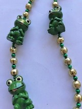 Frogs Beaded Necklace VTG July 4th Parade Pool Party NOS Fantasy Fest Mardi Gras image 2