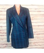 Vintage Linda Allard for Ellen Tracy 100% Wool Plaid Dress Coat Size 8 EUC - $73.00