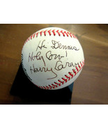 HARRY CAREY HOLY COW CHICAGO CUBS FORD FRICK SIGNED AUTO VTG ONL BASEBAL... - $593.99