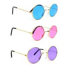 Skeleteen John Lennon Hippie Sunglasses – Pink Purple and Blue 60's Style - $21.79