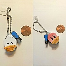 Disney Parks Emoji Donald Duck Two Sided 3D Key Chain Backpack Purse Charm New - $2.72