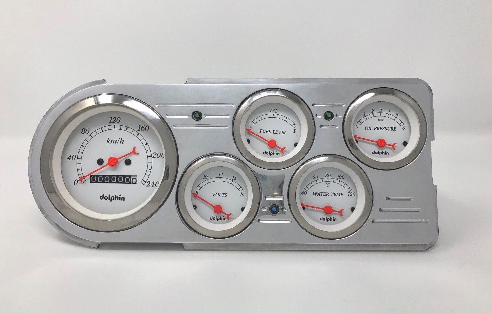 1949 1950 Chevy Car Gauge Dash Cluster White Metric