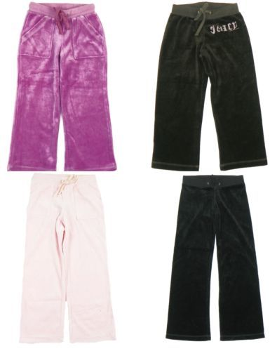 Little Girl's Juicy Couture Pants Kids Velour Basics Pant Licensed Authentic NEW