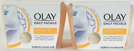 2 Olay Daily Facials 5 In 1 Add Water Nourishing Clean Shea Butter 33 Ct... - $23.99