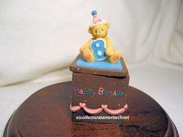 Cherished Teddies Covered Box Birthday Age 8  2001 NIB - $29.65