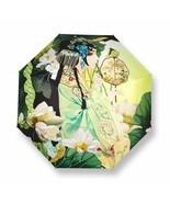 Automatic Sun Umbrella Rain Women Chinese Style Three Folding Portable C... - $30.90+