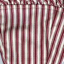 Longaberger 94 Sweetheart Red Stripe Be Mine Small Oval Basket Fabric Liner Only - $14.80