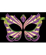 Masque Rage Temp Tattoo Mask Ladies Mardi Gras Masquerade Costume - $10.44