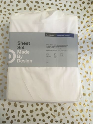 Made By Design White Twin/Twin XL Temperature Balancing Sheet SetNWT