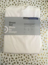 Made By Design White Twin/Twin XL Temperature Balancing Sheet SetNWT image 1