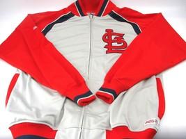 Stitches MLB St Louis Cardinals Full Zip Men's Jacket, Size Large Red Gray Stitc - $32.71