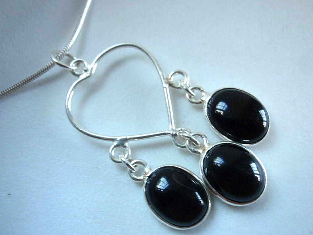 Primary image for LAST ONE Black Onyx 925 Silver Necklace New best offer