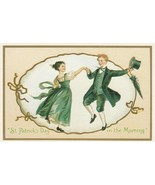 Vintage Postcard St. Patrick's Day Dancing Couple Unused Reproduction - $5.93