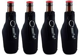 Funny Guy Mugs Premium Plain Collapsible Neoprene Bottle Coolies, Black,... - $17.01