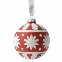 2015 Wedgwood Neoclassical Ball Red Porcelain Christmas NEW IN THE BOX - $52.46