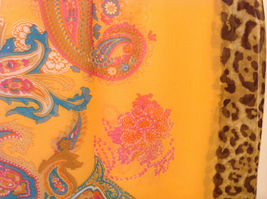 Paisley, Lines, Leopard Print Summer Sheer Fabric Multicolor Scarf, 6 colors image 14
