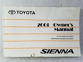 2001 Toyota Sienna Van Owners Manual 01999-45406 OM45406U 14379 - $13.85