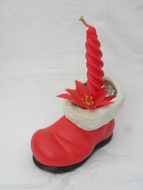 Vintage Handmade Ceramic Santa's Red Boot Planter or Candle Holder - $4.99