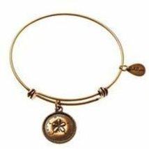 Bella Ryann Sand Dollar Gold Charm Bangle Bracelet
