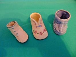 Vintage 3 Porcelain/Ceramics Little Shoes-Crafts-Props-Decoration Baby S... - $9.99