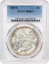 1887/6 $1 PCGS MS64+ Scarce Overdate Morgan Dollar - Morgan Silver Dollar - $1,028.20