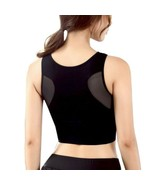 Women Sports Bras Breathable Mesh Padded Athletic Gym Running Bra Solid ... - $14.81+