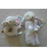 NEW Build A Bear Baby White Lamb Snuggler Blanket & Rattle Set - NWT - $24.99