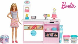 Barbie And Its Pastry Doll Barbie With Kitchen And Accessories Cake Deco... - $228.31