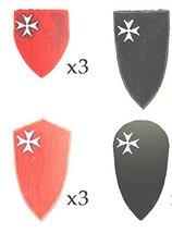 28mm Deus Vult: (Accessories) Hospitaller Order Shields II (12)