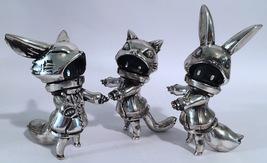 "Cherri Polly (Baketan) ""Brushed Silver"" Set of Cat, Rabbit, Fox Girls RARE and L image 3"