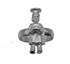 Pat-a-cake pat a cake baker's man Sterling Silver Jewelry Ring Baking Co... - $28.95