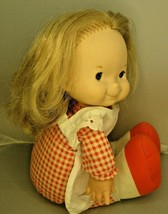 """Fisher Price Mary Doll #200 Lap Sitter Fisher Price Little Girl Dolls 1973 13"""" - $16.82"""